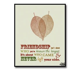Friends Quote Poster – Friendship Isn't About Who You've Known The Longest