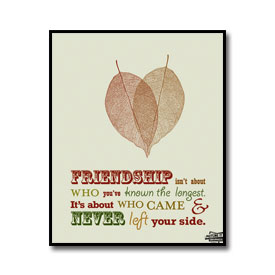 Eyely Design Friends Quote Poster Friendship Isnt About Who You