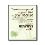 Friends Quote Poster – There Comes A Point In Life //