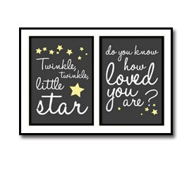 Twinkle Twinkle Little Star Nursery Poster