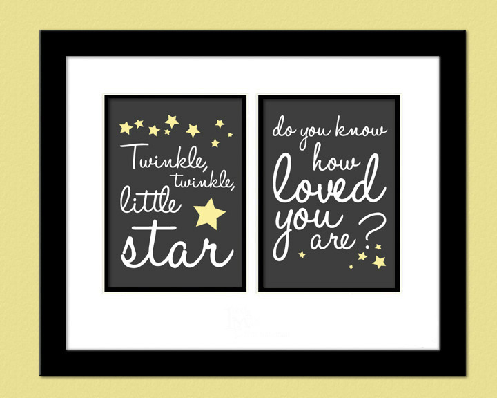 Twinkle Twinkle Little Star Poster Print Download Nursery Baby Gender Neutral