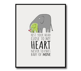 Nursery Artwork – Elephant Theme