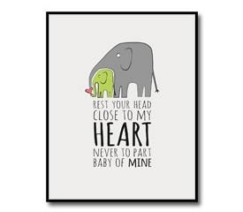 Nursery Artwork – Elephant Theme
