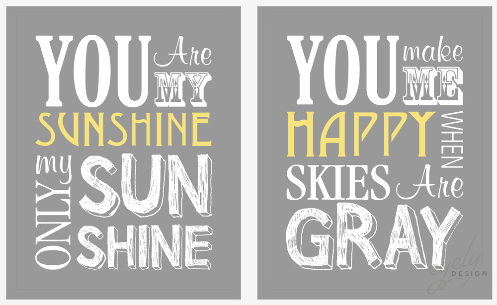 You Are my Sunshine Poster Download