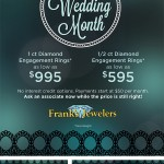 Wedding Month Designs for South Jersey's Frank's Jewelers //