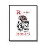 R is for Roses – Alice in Wonderland Nursery Print Download //