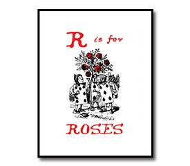 R is for Roses – Alice in Wonderland Nursery Print Download