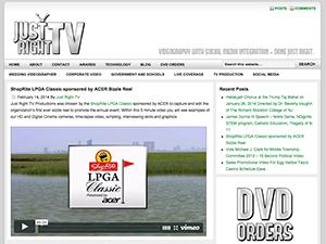 Just Right TV Productions LLC WordPress Website