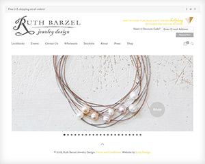 Ruth Barzel WordPress eCommerce Jewelry Website