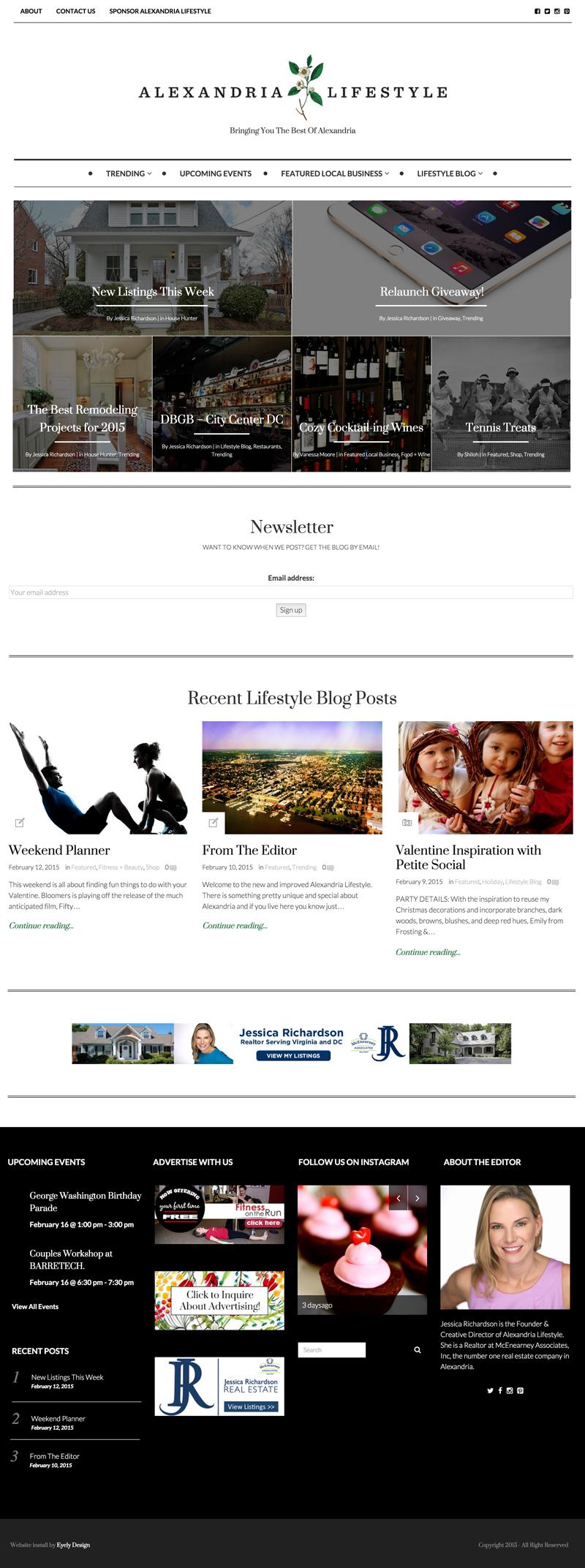 Alexandria Lifestyle Modern Website Blog