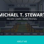 Michael Stewart – Resume Website Design
