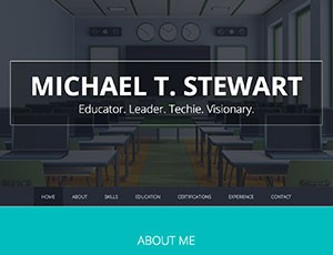 Michael T. Stewart Résumé WordPress Site