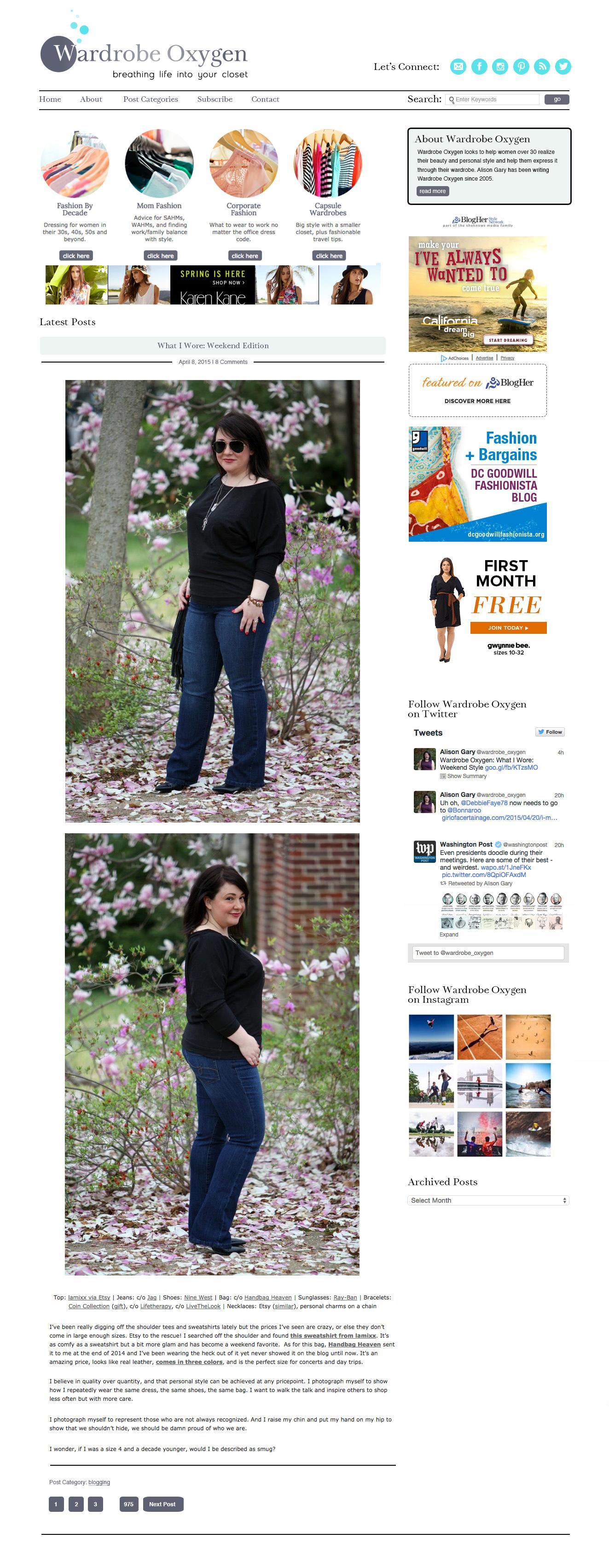 wardrobe oxygen website, fashion blog, fashion advice