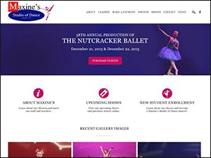 Maxine's Studio of Dance WordPress Website – Vineland, New Jersey