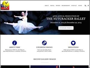 Vineland Regional Dance Company Website Design and Development