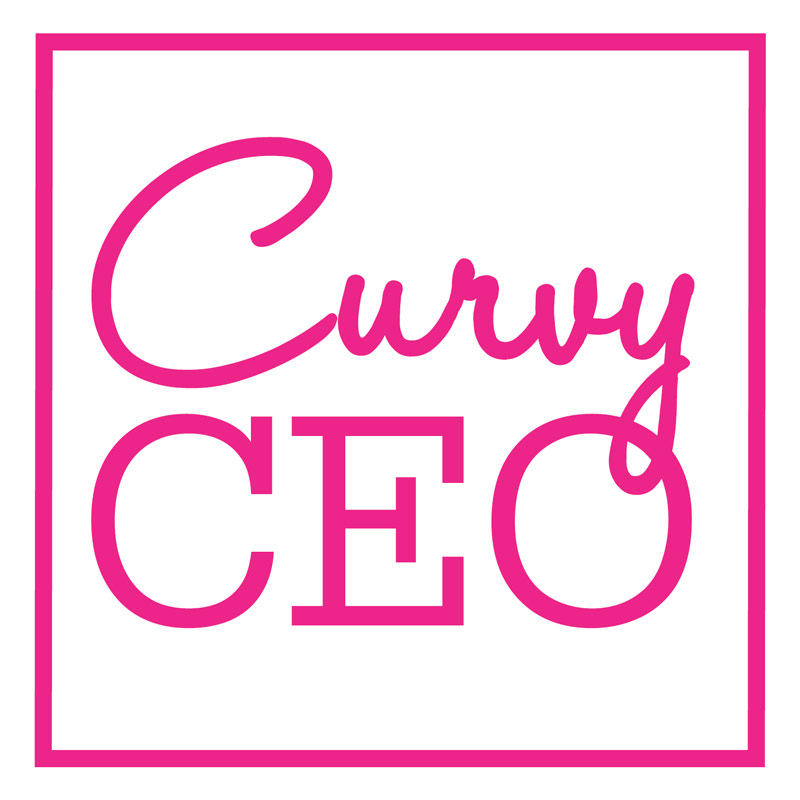 curvy CEO logo design square fashion blog plus size