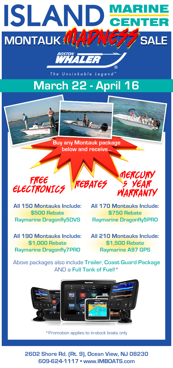 Boating sale custom email template design island marine center nj Jersey new jersey boating