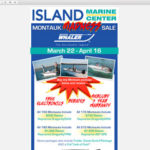 Island Marine Center – Boating Sale Custom Email
