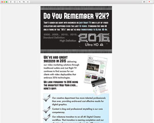 Just Right TV Productions Custom Email Newsletter