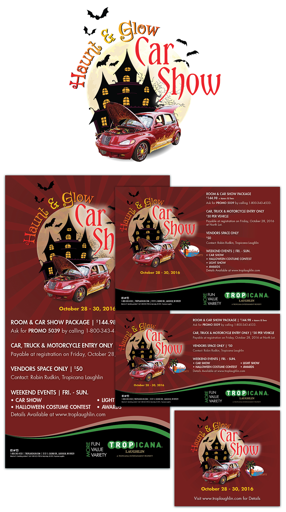 casino event logo design and marketing materials digital billboards