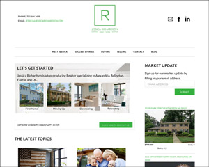 Website for Jessica Richardson – One of Alexandria's Top Real Estate Agents