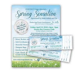 Spring Sensation – Poster and Ticket Design