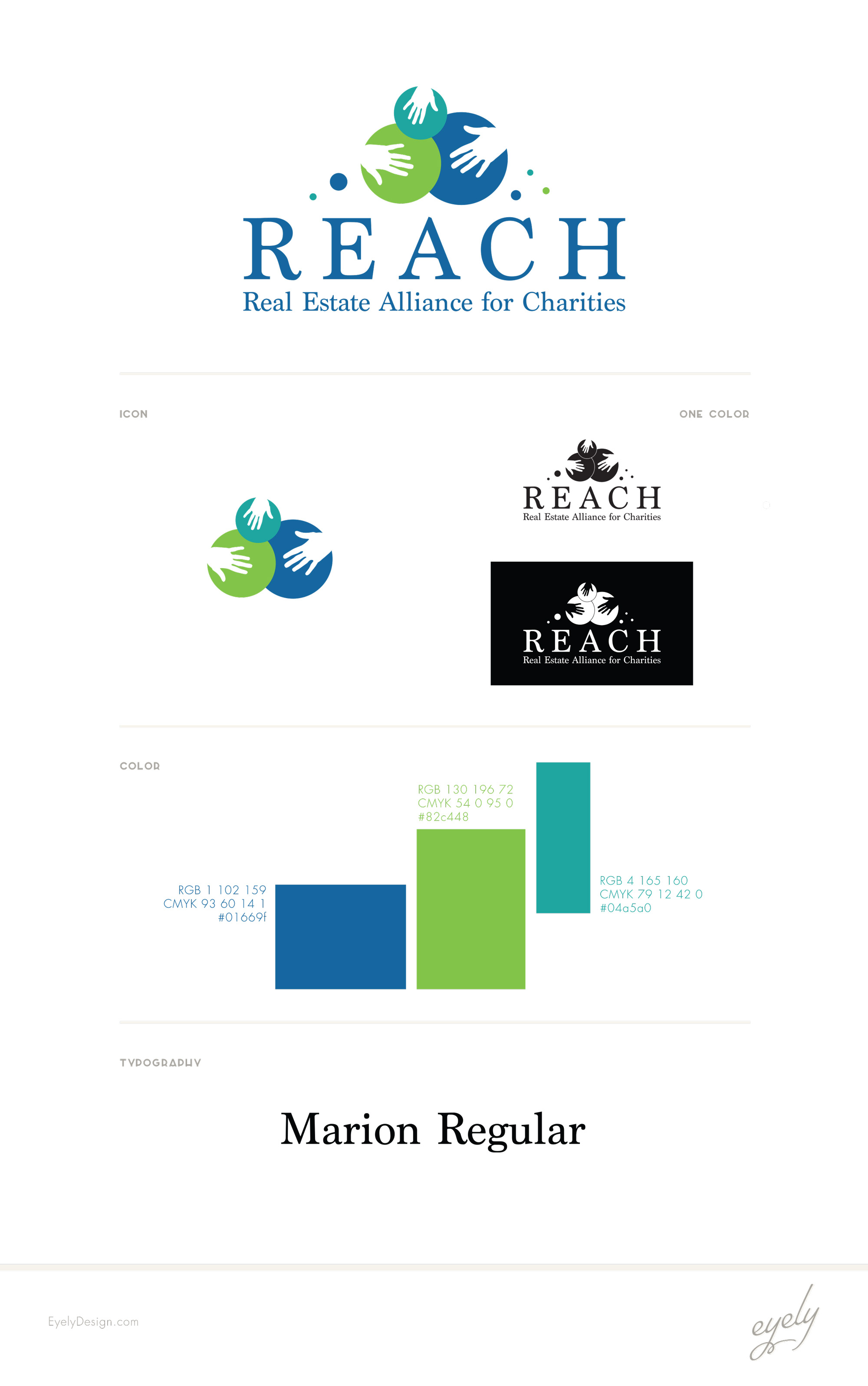 REACH logo design style sheet by eyely design nj south jersey real estate logo