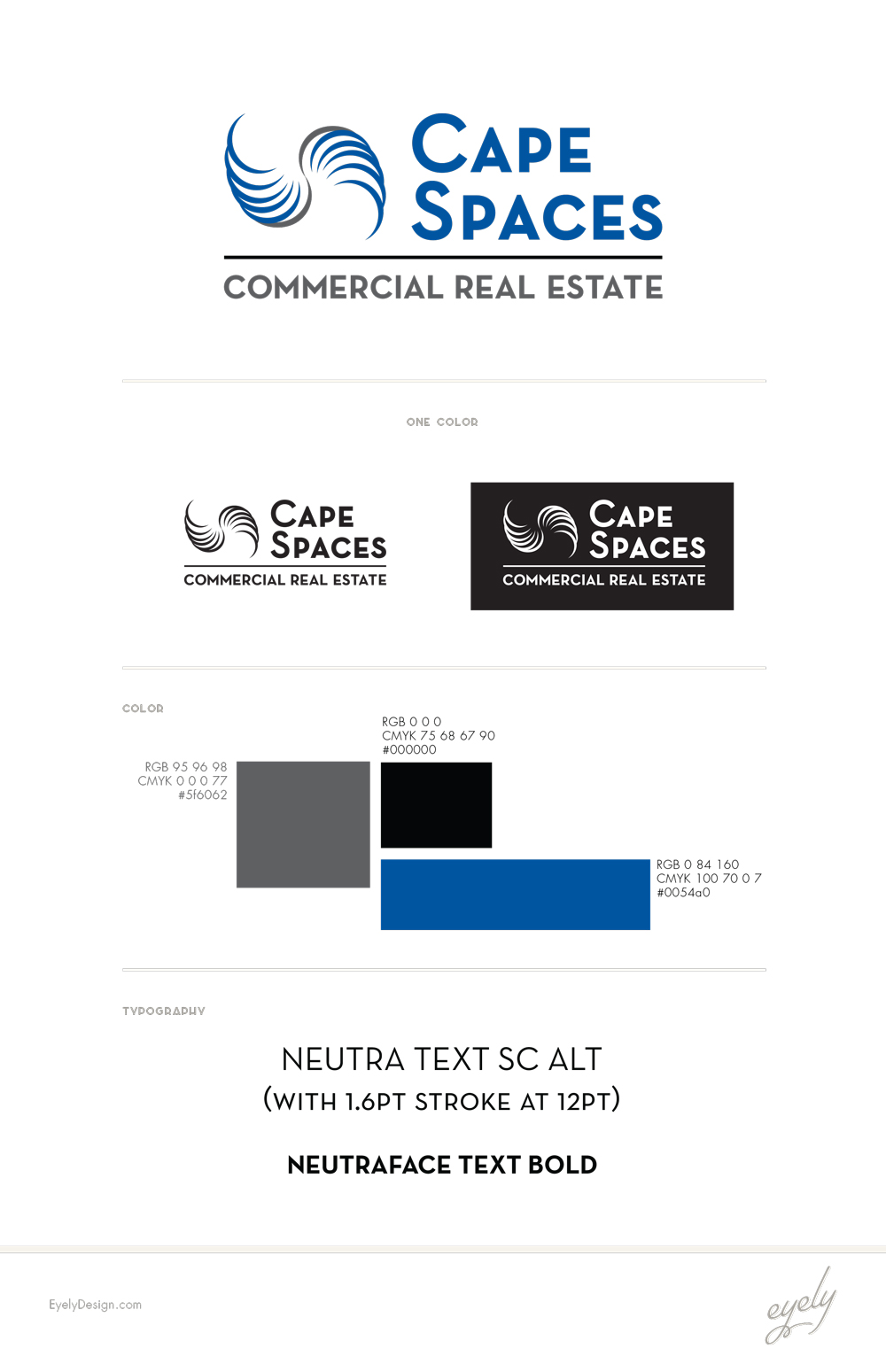 capespaces nj commercial real estate logo design by eyely design