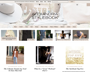 Alexandria Stylebook – Alexandria, VA Website Design for Fashion, Fitness, Home, and Lifestyle Blog