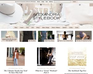 Alexandria Stylebook – Alexandria, VA Website Design for Fashion, Fitness, Home, and Lifestyle Blog