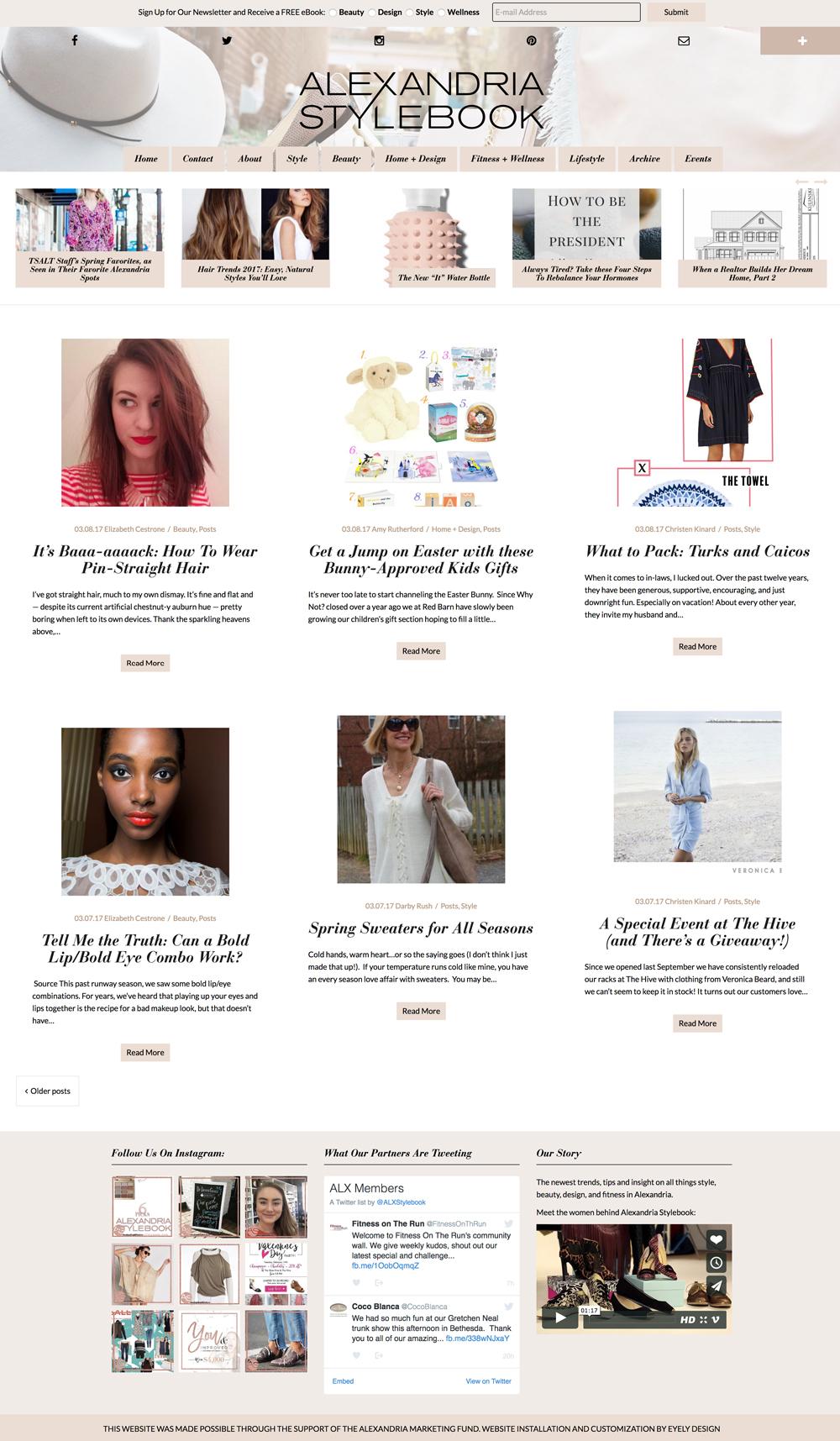 Alexandria Stylebook Website Design alexandria stylebook website health wellness fashion blog va