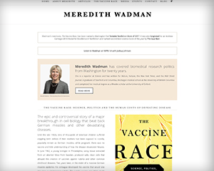 Meredith Wadman of The Vaccine Race Book – Author Website