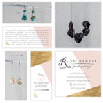 Ruth Barzel – Jewelry Design Business Cards, Care Cards, Promo Cards