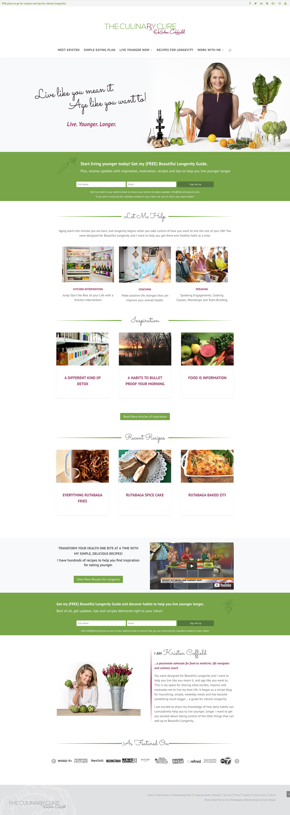 health recipe website design kristen coffield the culinary cure
