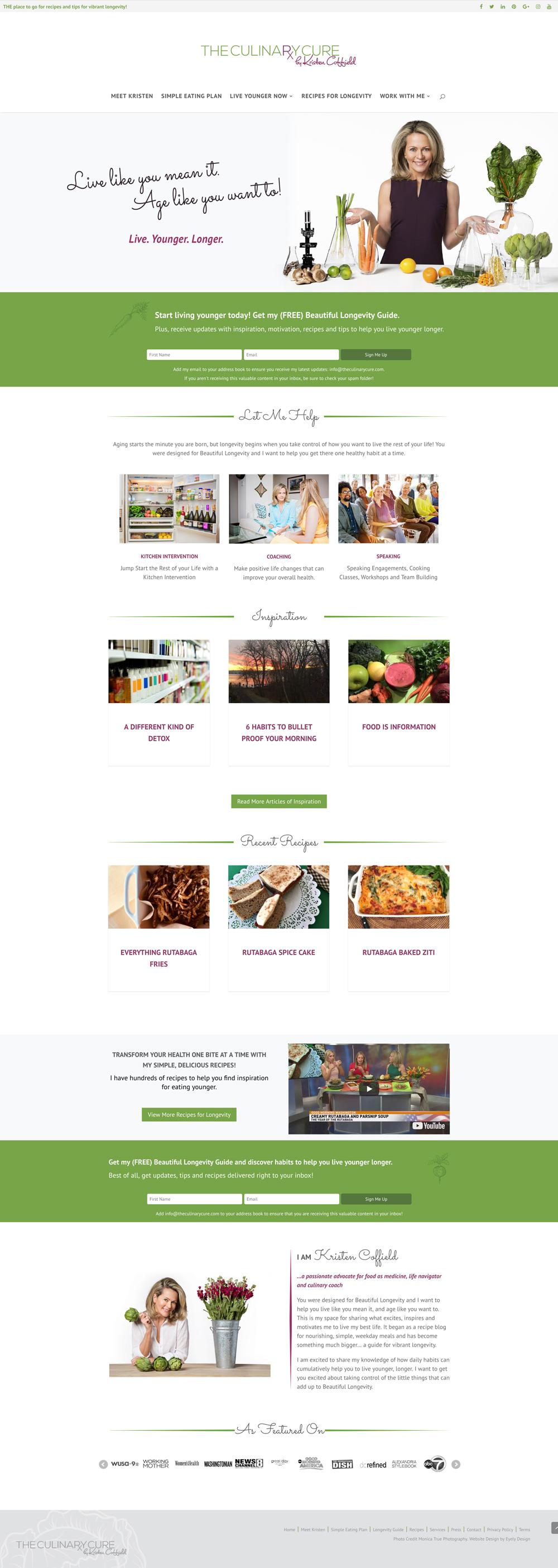 health recipe website design kristen coffield the culinary cure