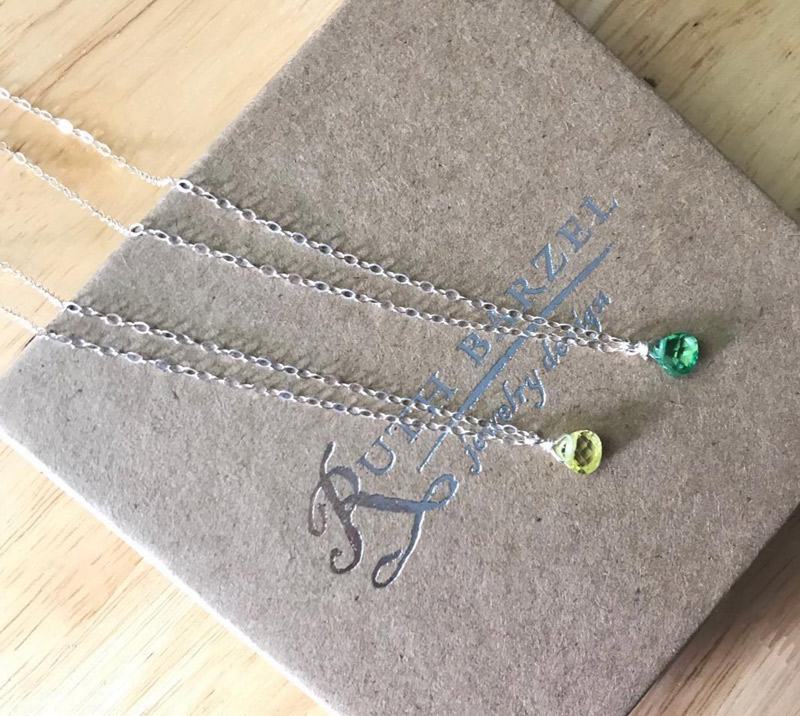 birthstone necklaces from Ruth Barzel Jewelry Design