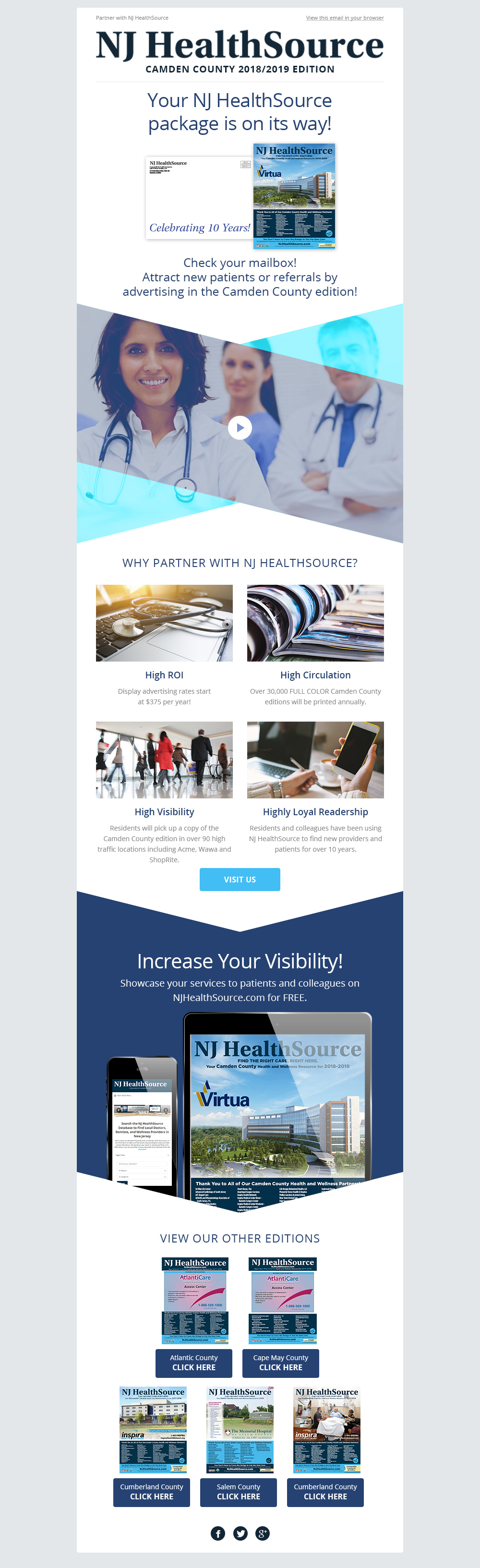 njhealthsource email template design in mailchimp by eyely design