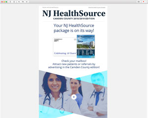 NJ HealthSource – Health Directory Email Template Design