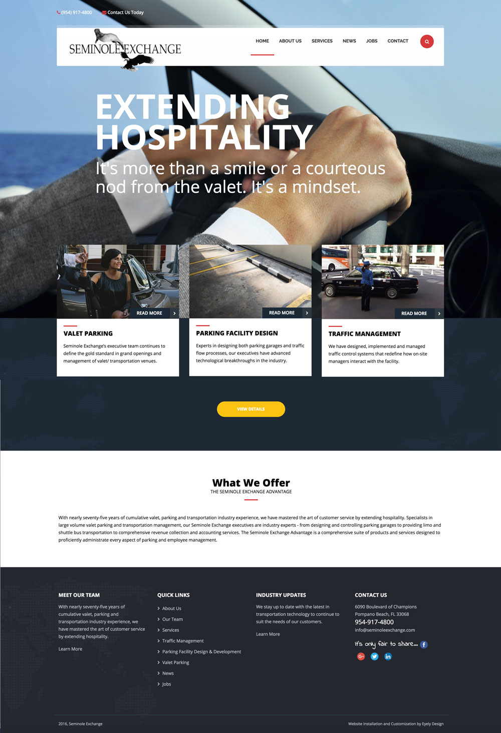 transportation website design wordpress by eyely design south jersey