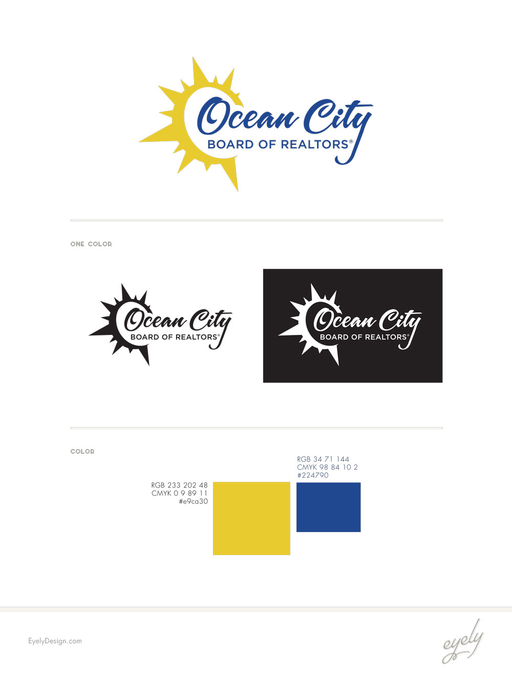 brand design for real estate agency in ocean city - OCBOR by eyely design