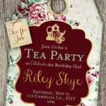 Tea for Two Birthday Party Invitation