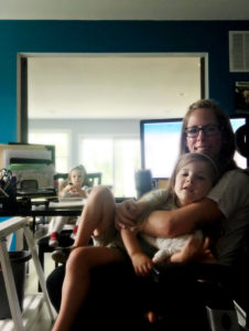 raising kids from home while working, eyely design becca stewart