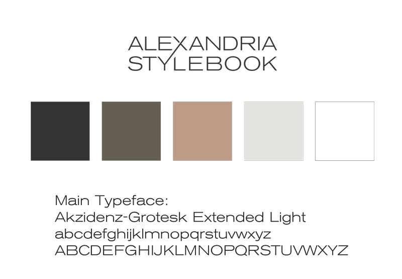 Alexandria Stylebook fashion lifestyle blog Logo Design by Eyely Design