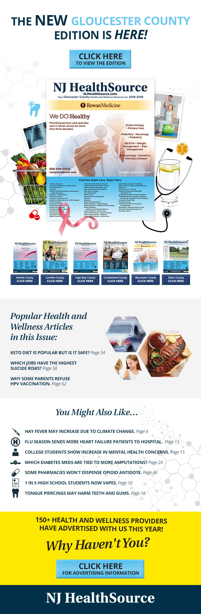NJ HealthSource - GC 2018 Book Email Template Design