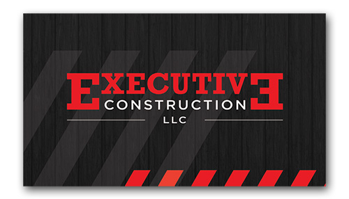Executive Construction business card design