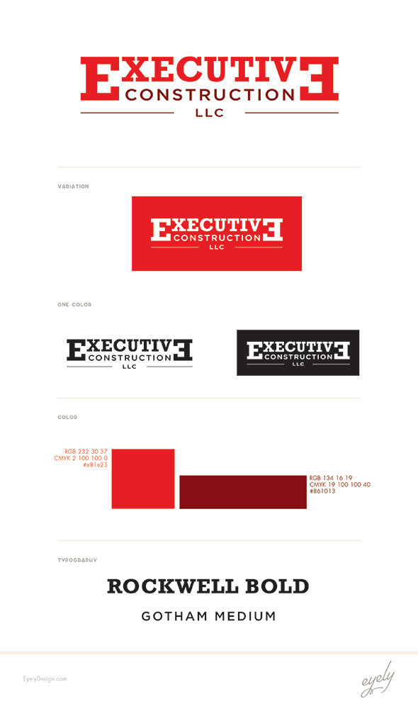 Executive Construction Logo Design