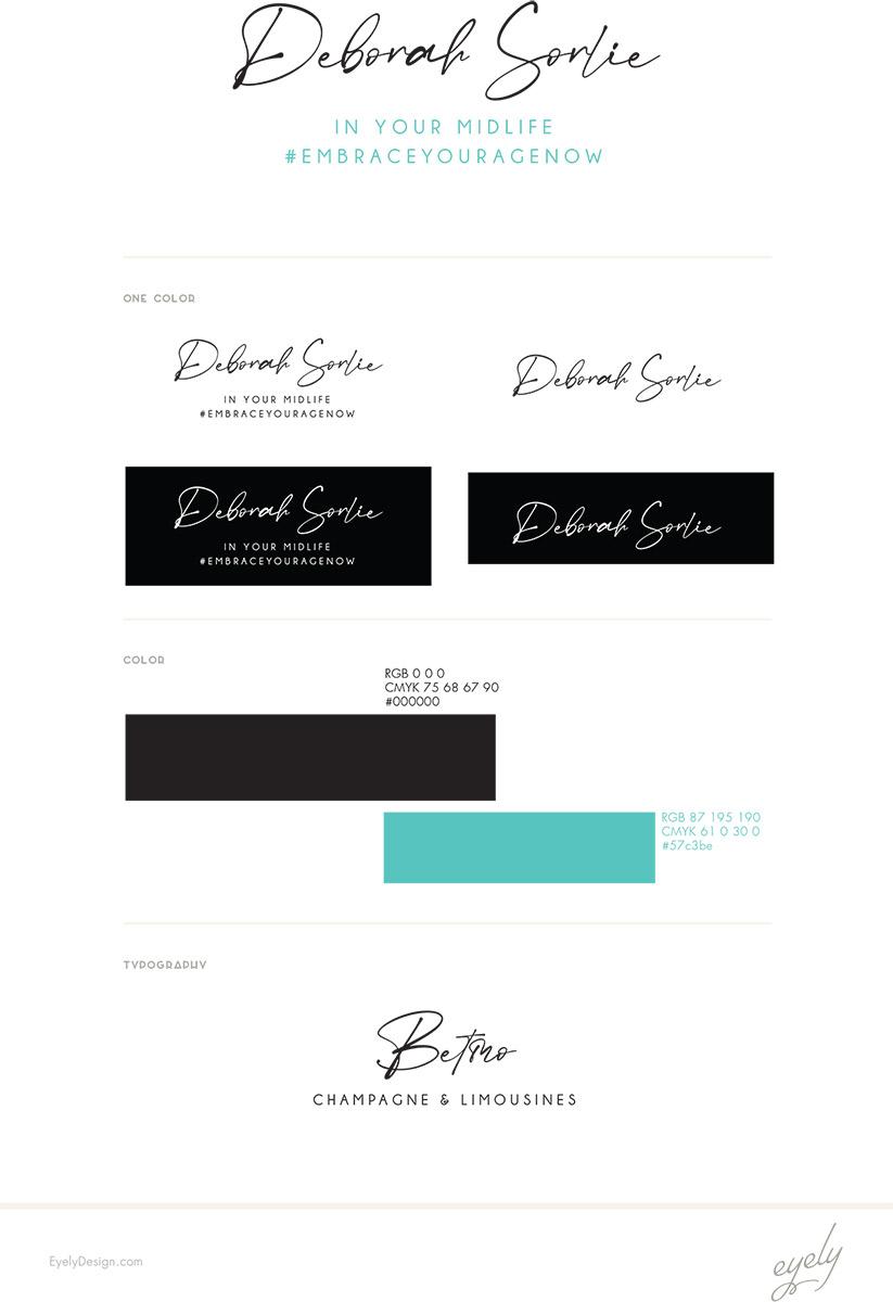 Deborah Sorlie logo Design stylesheet
