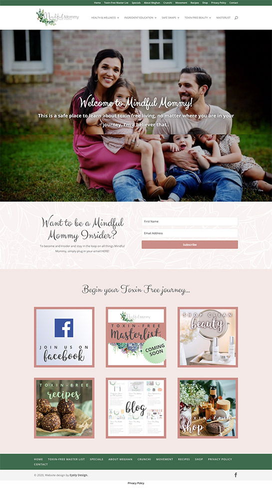 Mindful Mommy website design