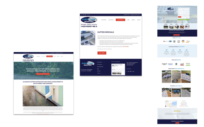 Surf & Turf On-Site Landing Pages
