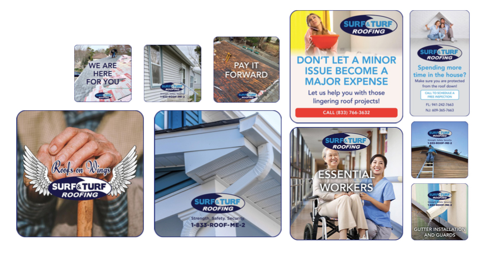 Surf & Turf Roofing Organic Instagram and facebook ads